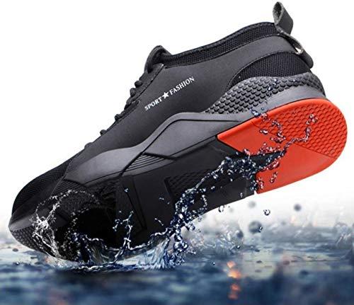 GTI Sicherheitsschuhe Arbeitsschuhe Sportlich Schutzschuhe Stahlkappe Sneaker Atmungsaktiv (Numeric_43)