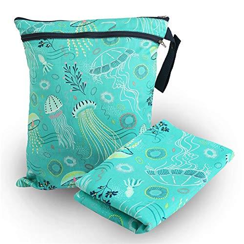 ZYCH Almohada 4 Piezas Cambiador Portátil de Pañales para Bebé Kits para Cambio de Pañales Mantener el Culo Seco Impermeable Cambiador de Viaje Colchones Plegables para Cambiador Forros (Color : A)