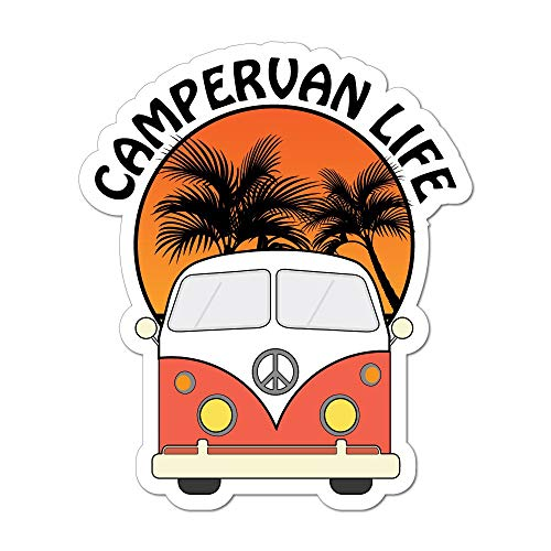 Camper Life Van Camping Road Trip Travel Adventure Car Sticker Decal