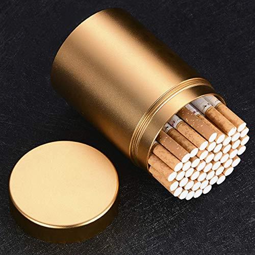 Caja Cigarrillos Portátil Metal Gran Capacidad Anillo Goma, Resistente Al Agua, Aleación Aluminio, Carrito Té Exteriores, Tubo Tabaco, C