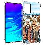 SHUMEI hülle für Samsung Galaxy A52 Personalisiertes Foto, Geschenk, Stoßdämpfung, weich, transparent, TPU, DIY HD-Bild, personalisierbar hülle