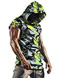 Poriff Long Workout Sleeveless Hoodie For Men Shirt Hoodie Big And Tall Camo