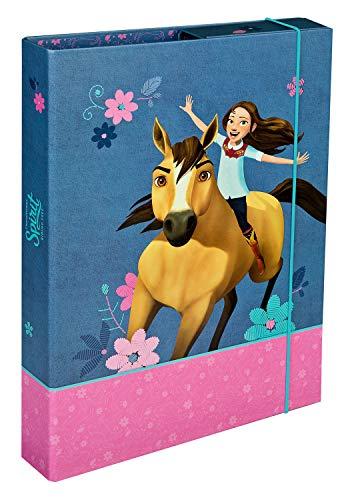 Undercover SIPR0940 Heftbox A4 mit Spanngummi, DreamWorks Spirit, ca. 32 x 24 x 4 cm