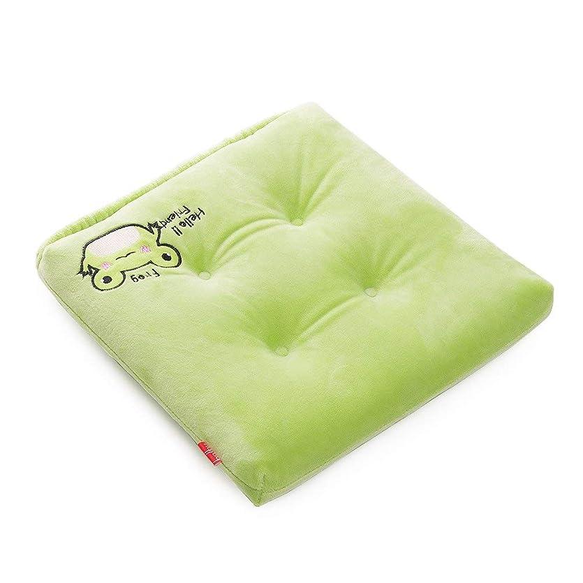 盆地肘掛け椅子しわBaibu Home かわいい 学童 クッション いす用 座布団 通気性 ベビーチェアークッション 子供 クッション 30×30 丸洗える 固定ゴム付き