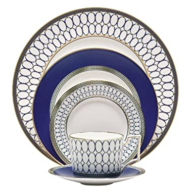 Wedgwood 5C10210222 5 Piece Place Setting, Blue/Gold/Yellow/White