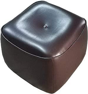 SZQL Ottoman, Bean Bag Chair, Foot Stool,Faux Leather Seat Decorative Pouf- Brown