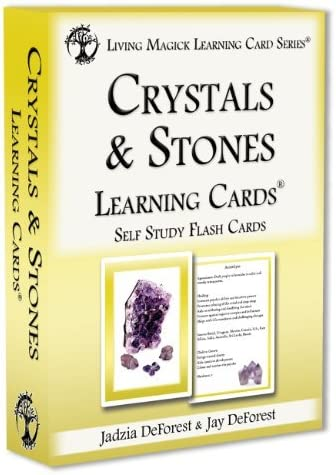 Crystals Stones Learning Cards - S Import Card Free shipping on posting reviews Living Magick