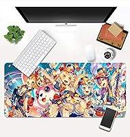 マウスパッド Bang Dreamマウスパッドカワイイオフィスマウスゲーマーマウスパッドノンスリップラバーベースコンピュータキーボードパッド大Deakマット-90X40X0.3Cm D