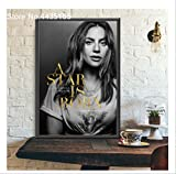 DPFRY Impresión En Lienzo Poster and Print Movie Lady Gaga Poster Wall Art Picture Canvas Painting Room Decoration 40X60Cm Sin Marco