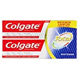 Colgate Total Whitening Dentifricio, Protegge dai Batteri, 2 x 150 ml