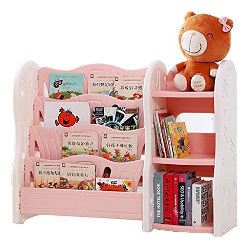 Bibliothèques Bibliothèque Pour Enfants Support De Stockage De Jouets Simple Armoire De Rangement Bibliothèque Pour La Maternelle (Color : Pink, Size : 118x36x82cm)