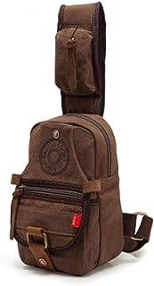 Mens Bag New Canvas Small Chest Bag Fashion Men's Bag Men's Bag Trend Single Shoulder Messenger Bag High capacity
