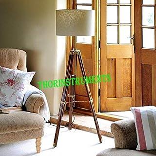 Lampadaire vintage à trépied pour décoration d'intérieur