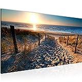 Wandbilder Strand Sonnenuntergang 1 Teilig Modern Vlies