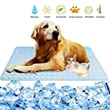 Summer Pet Cooling Mat for Dogs Cats Pet Cool Pad Ice Silk Sleep Mat Washable Cooling Blanket Cushion for Kennel Sofa Bed Floor Car Seats Travel (XL)