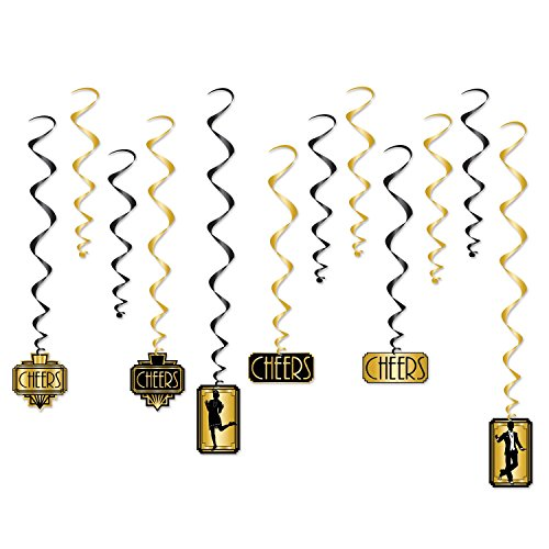 Beistle Great 20s Whirls | Premium Hanging Party Decorations (1-pack)