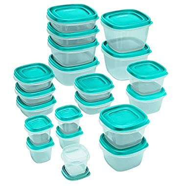 Rubbermaid Food Strg Set 40pc Tl, 40-piece, Turquoise