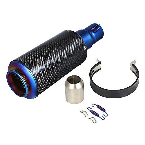 KKmoon Auspuff Exhaust Schalldämpfer 38-51 mm Auspuff Exhaust für Motorrad, Carbonfaser Abdeckung zur Entfernung des Auspuffs für Motorrad ATV Universal