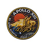 Apollo 13 Mission Collections Patch Official NASA Space Shutte Program DIY Embroidered Costume Applique Badge Tactical Military Sew On Motorcycle Tags Emblem for Travel Backpack Hats Jackets (13)