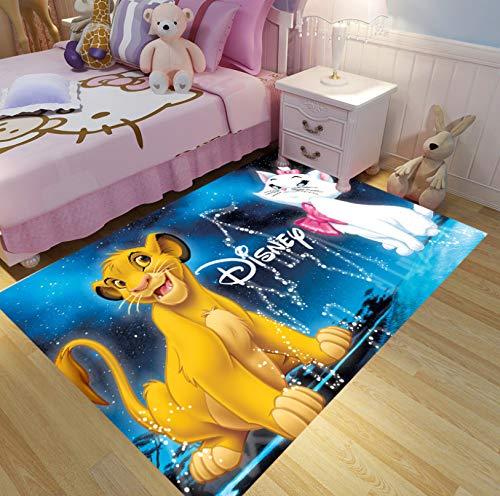 Moderner Babyzimmerteppich, Niedlicher Karikatur-Tiermusterteppich, Innenwohnzimmer-Sofabereich-Bodenmatte 50cmx80cm