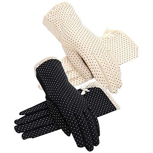 2 Paar Frauen Sunblock-Handschuhe, Sommer-UV-Schutz, Sonnenschutz-Handschuhe, rutschfeste Touchscreen-Handschuhe, Outdoor-Handschuhe für Frauen und Mädchen Gr. One size, B