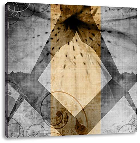 Pixxprint Symbole Franc-maçonnerie 60x60 cm Art Toile décoration