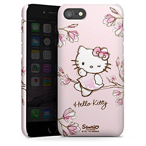 DeinDesign Premium Hülle kompatibel mit Apple iPhone 8 Smartphone Handyhülle Hülle glänzend Hello Kitty Fanartikel Hanami