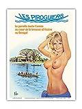 Pacifica Island Art Aslan Poster Les Piroguiers Restaurant
