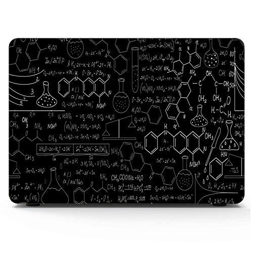 Estuche para Mac Book Pro Beautiful Chemistry Vector Seamless Plots Funda para portátil Macbook Hard Shell Mac Air 11'/ 13' Pro 13'/ 15' / 16'con Funda para portátil para Macbook Versión 2008-2020