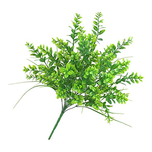 MERIGLARE Flores Artificiales Plantas Verdes Boda Falsa Ramo de Novia Fiesta de Bricolaje