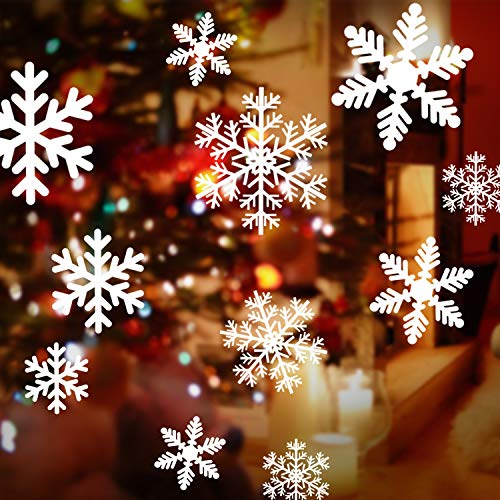 WENTS Weihnachten Fenstersticker Schneeflocken Fensterdeko PVC Fensterbilder Weihnachten Fensterdeko Fensterfolie für Türen Schaufenster, Vitrinen, Glasfronten
