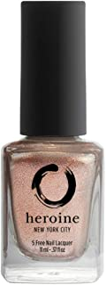 heroine.nyc Rose Gold Metallic Nail Polish in ROSÉ All Day - .37 fl. oz. (11 ml) - Cruelty-Free, Vegan and Non-Toxic (9-Fr...