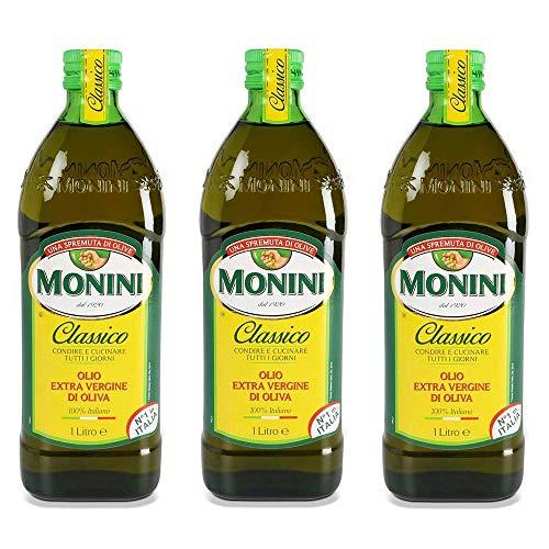3x Monini Extra Natives Olivenöl 1L nativ olio extravergine di oliva Classico
