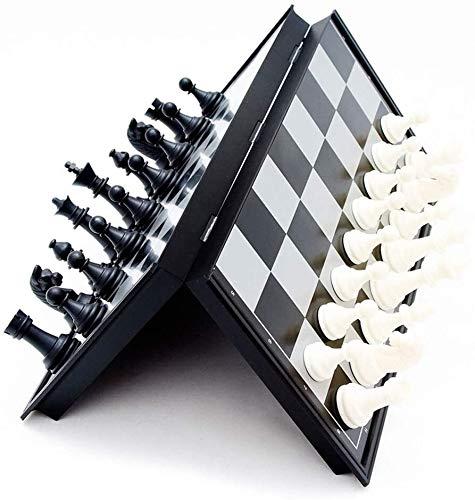 REWD Schachbrett Schachspiel Internationalen Für Party Schach Set Schachbrett Holzschach, Schachbrett Tragbare Plastikschachbrett Faltbrett Schachspiel International Schach Set Spielzeug