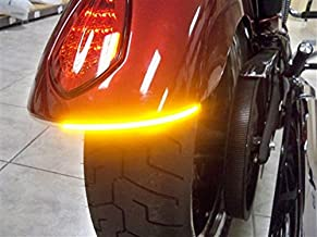 Victory Vegas, High Ball, Gunner Fender Eliminator LED Turn Signal Kit with Tag Light and Bracket - Amber Turns with Smoked Lens
