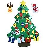 XYJIE 3.6 pies DIY Set de árboles de Navidad con Fieltro DIY para Niños 29 Unids Año Nuevo Adornos Desmontables Decoración de la Pared