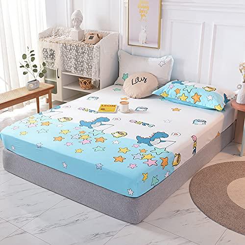 BOLO 100% algodón ropa de cama elástica colchón protector hogar hotel cama doble tamaño king cama cubierta, sin plancha sábanas antiarrugas, 200x220cm+25cm