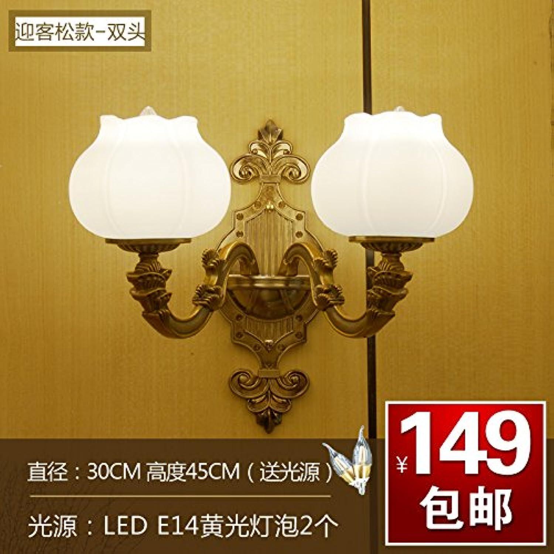 StiefelU LED Zinklegierung Crystal Jade wand Schlafzimmer Wand lampe Nachttischlampe doppelte Wand leuchten, Dual Head - Willkommen bei Kunde)