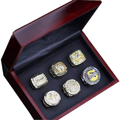YANGLIXIA Campeonato de Baloncesto Anillos Kobe Lakers Hombre Vintage Memorial World Champion Collection Souvenirs 11#