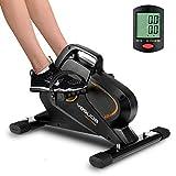 YOSUDA Under Desk Bike Pedal Exerciser - Magnetic Mini Exercise Bike for Arm /Leg Exercise, Desk Pedal Bike for Home/...