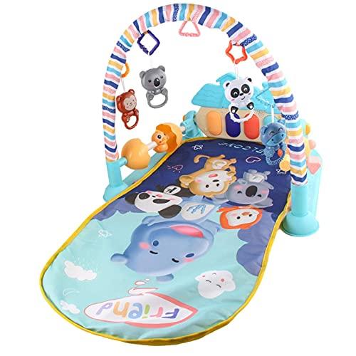 Baby Gym Piano Play Mat, Bebé Actividad de rastreo Alfombra Play Mat con Music Light Cerca Protectora, Discovery Alfombra Toys Regalo para Niño Infantil Chica Entrenamiento