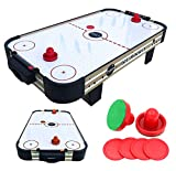 haxTON Air Hockey Table Accessories Sets with 4 Size Pucks and 2 Plastic Lightweight Goalies Replacement Accessories for Air Hockey Game Tables (Mini air Hockey Table)