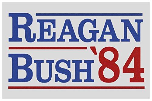 Ronald Reagan George Bush 1984 Campaign Cool Wall Decor Art Print Poster 12x18