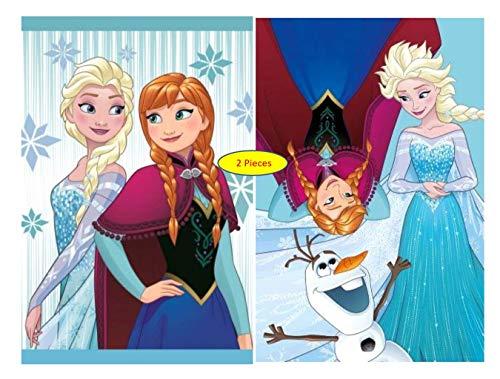 Diesney - 2er Pack - Set - tolle Gechenkidee für Mädchen -Kinderhandtuch Handtuch Kinder Gästehandtuch Gesichtstuch - 40 x 60 cm - 100{c96db677f185349612acf520e4673eeaf6fc4f11b26caf8ed16867e77c46d501} Baumwolle -2 er Set: (2 x Frozen)