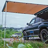 ALL-TOP 6.6'L x 8.2'W Car Side Awning Roof Rack Pull-Out Tent Shelter Retractable 4x4 Vehicle Awning for Jeep/SUV/Truck