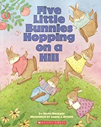 Five little bunnies hopping on a hill book