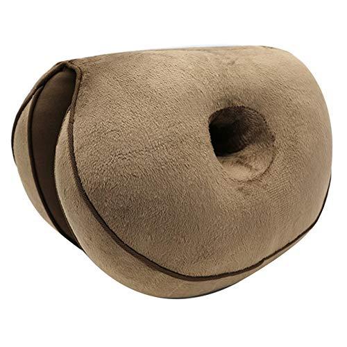 Lophome Memory Foam Sitzkissen Steißbein Kissen Haltungskorrektur Kissen Formung Sitz Beauty Lift Hip Push Up Plüsch Kissen für Ischias Relief, Steißbein, Steißbein und Hüftschmerzen Coffee