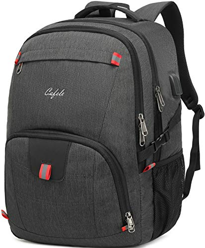Backpack,Waterproof Large 17in Laptop Backpack for Trip School Work Bookbag,Grey