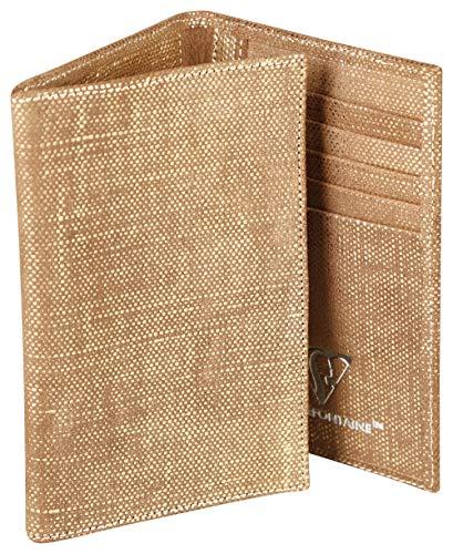 Clairefontaine 410052C Kartenetui KLEO-PATHRA, aus Lammleder, 15 x 1 x 10cm, 1 Stück, Gold