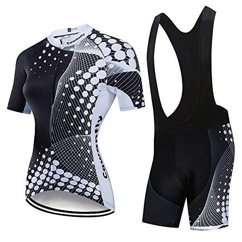 Mafyu Fietsshirt voor dames en heren, sneldrogend, fietskleding, ademend, mountainbike fietskleding pak